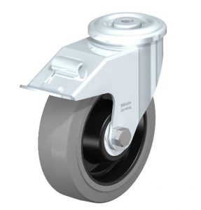 """Blickle 6 5/16"""" Swivel Casters with Brake and 600 lbs capacity from Easy Casters"""