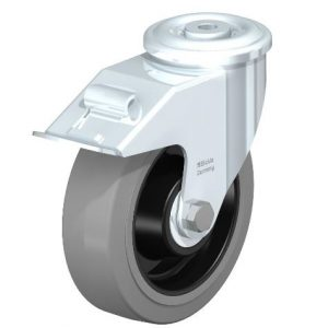 "Blickle 6 5/16"" Swivel Casters with Brake and 600 lbs capacity from Easy Casters"