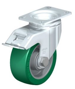 """Blickle 4"""" Brake Swivel Casters with 550 lbs capacity from Easy Casters"""