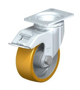 """Blickle 4"""" 615 Lbs capacity swivel casters with brake from Easy Casters"""