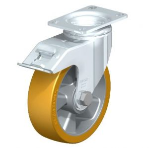 """Blickle 5"""" 330 Lbs capacity swivel casters with brake from Easy Casters"""
