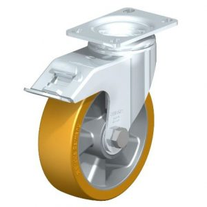 "Blickle 5"" 330 Lbs capacity swivel casters with brake from Easy Casters"
