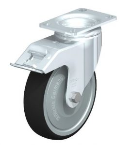 """Blickle 5"""" swivel caster with brake that can support 1760 lbs from Easy Casters"""