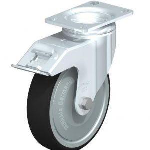 "Blickle 5"" swivel caster with brake that can support 1760 lbs from Easy Casters"